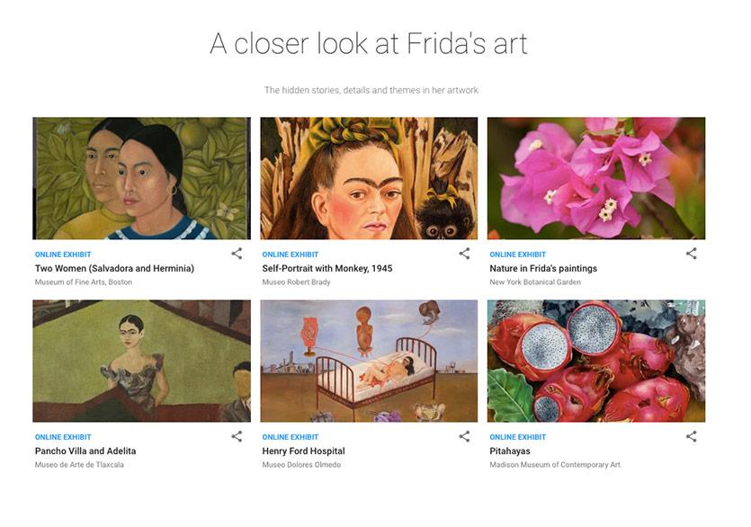 Google Arts & Culture, Frida Kahlo Koleksiyonunu Yayımladı