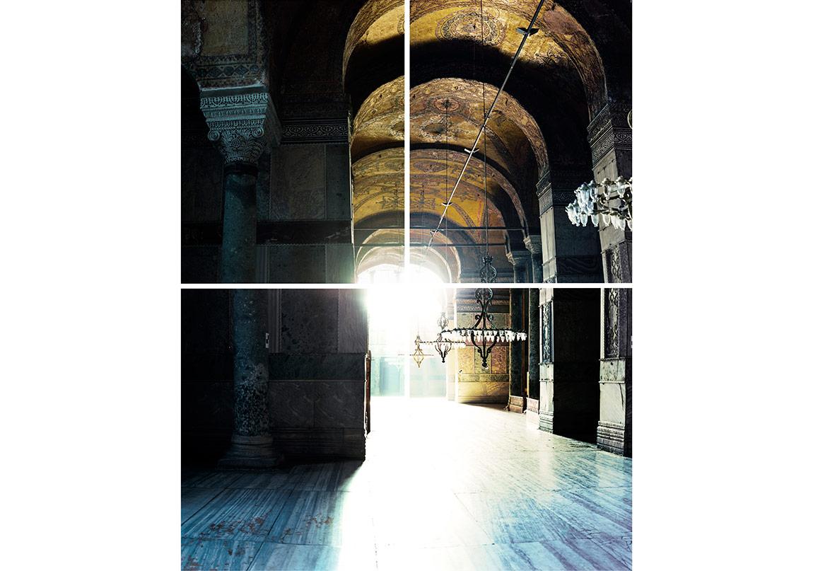 Ola Kolehmainen, Hagia Sophia year 537 IV, 2014, 232 x 182 cm, Quadriptych, c-print, diasec