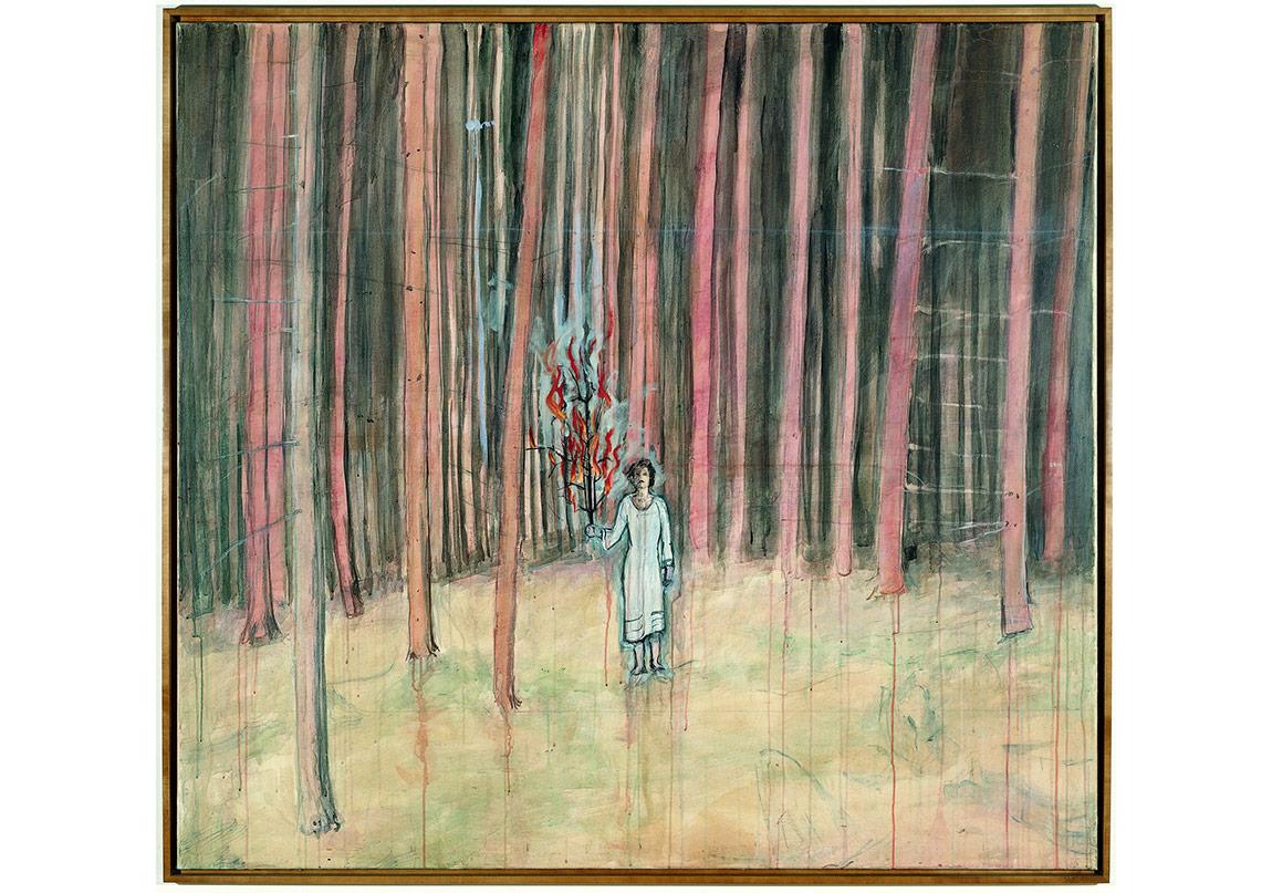 Mann im Wald [Homme dans la forêt], 1971 174 x 189 cmAcrylique sur toile de cotonCollection particulière, San Francisco© Ian Reeves