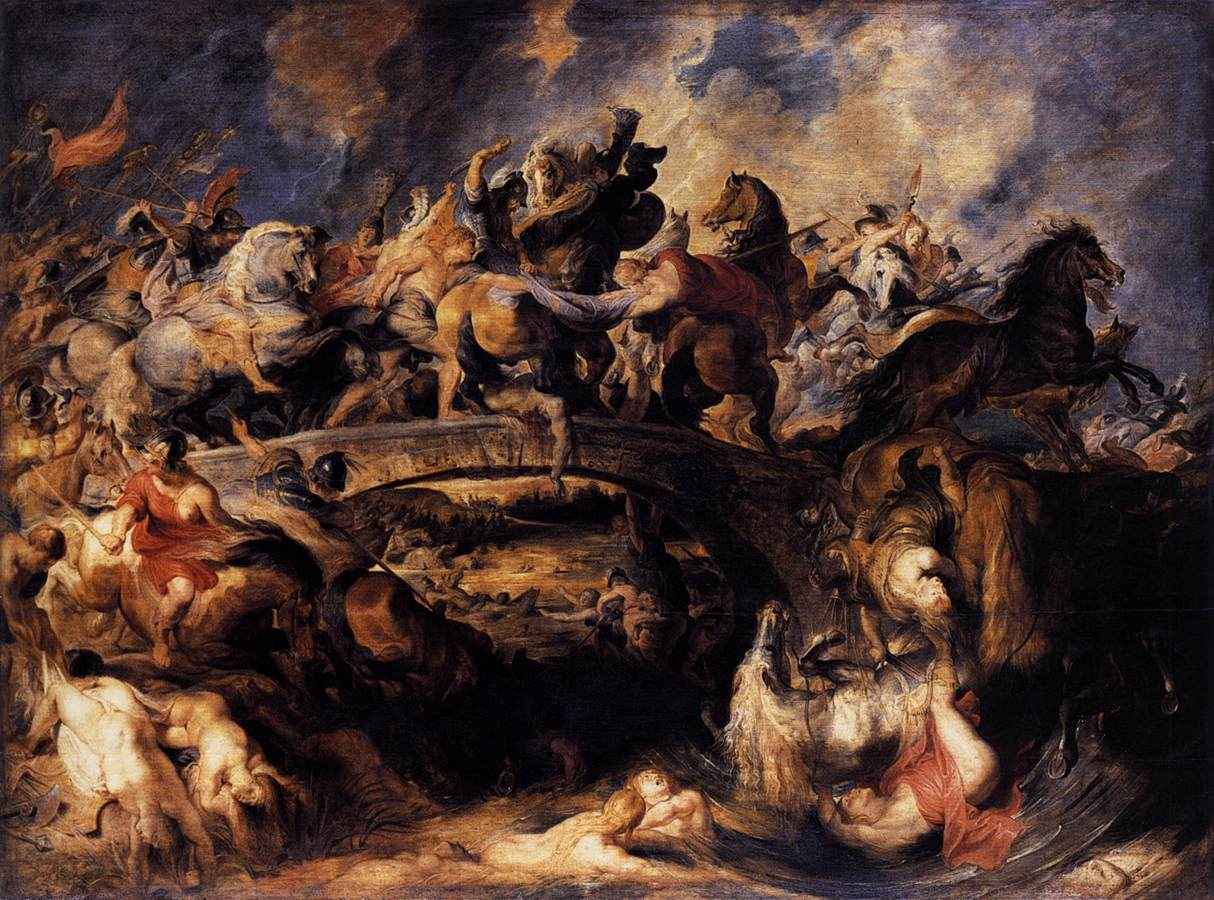 Peter Paul RUBENS, Battle of the Amazons 1618 Oil on panel, 121 x 166 cm Alte Pinakothek, Munich