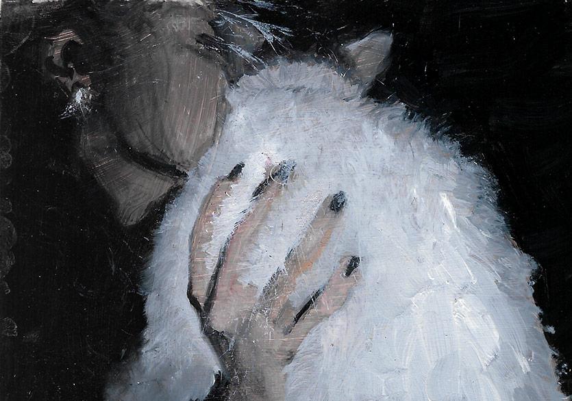 Zeynep Beler, İrem, 2016, Bristol Üzerine Yağlıboya 10x12 cm.