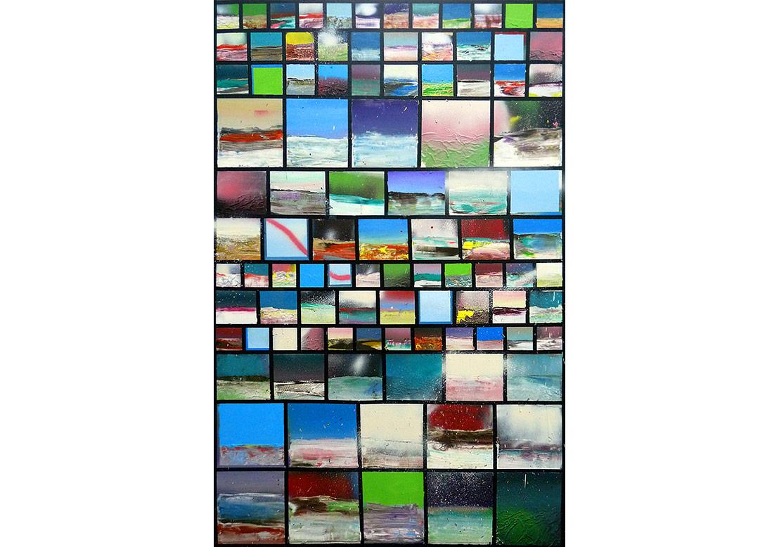 Armando Rabadan, İsimsiz,tuval üzerine yağlı boya ve sprey boya (2016)