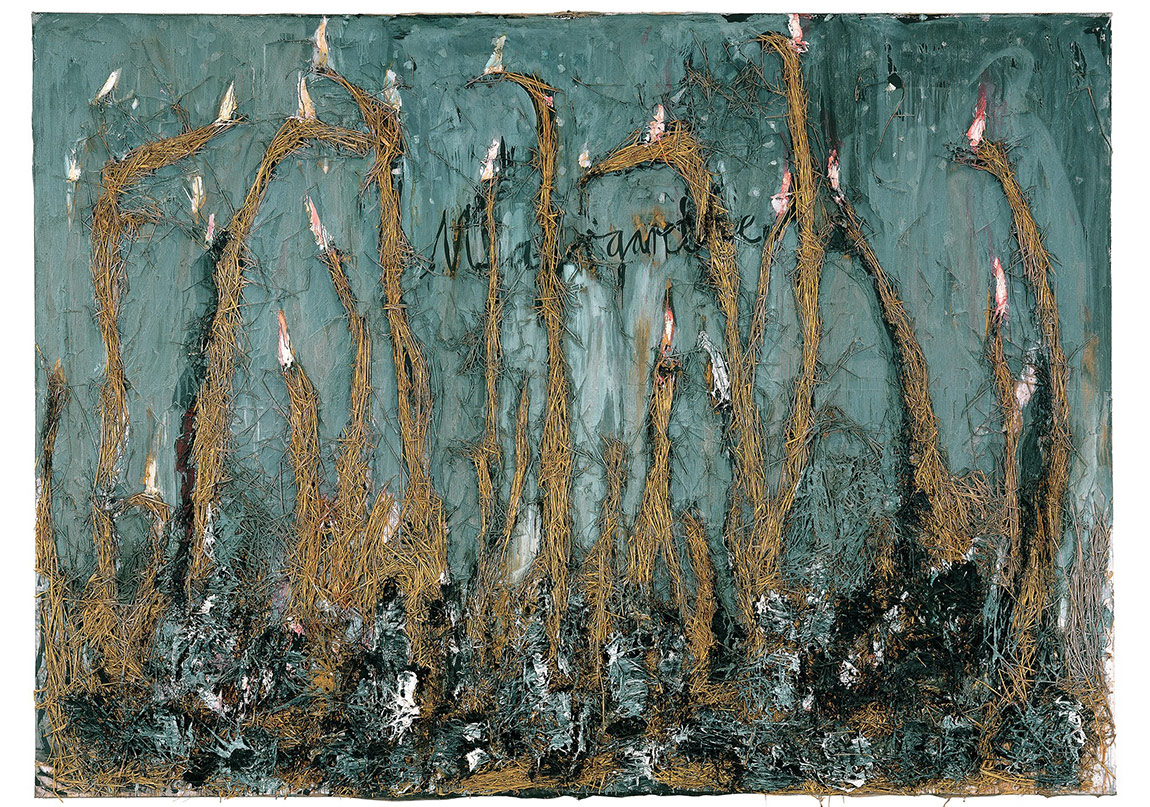 Margarethe,1981Huile, acrylique, émulsion et paille sur toile 280 x 400 cm The Doris and Donald Fisher Collection at theSan Francisco Museum of Modern Art© Anselm Kiefer / Photo : Ian Reeves
