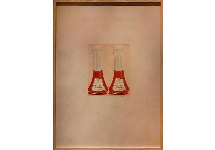 Nur Koçak, 'Fetiş Nesneler Dizisinden', 1976, Diptik, Kağıt üzerine karışık teknik, 88 x 126 cm
