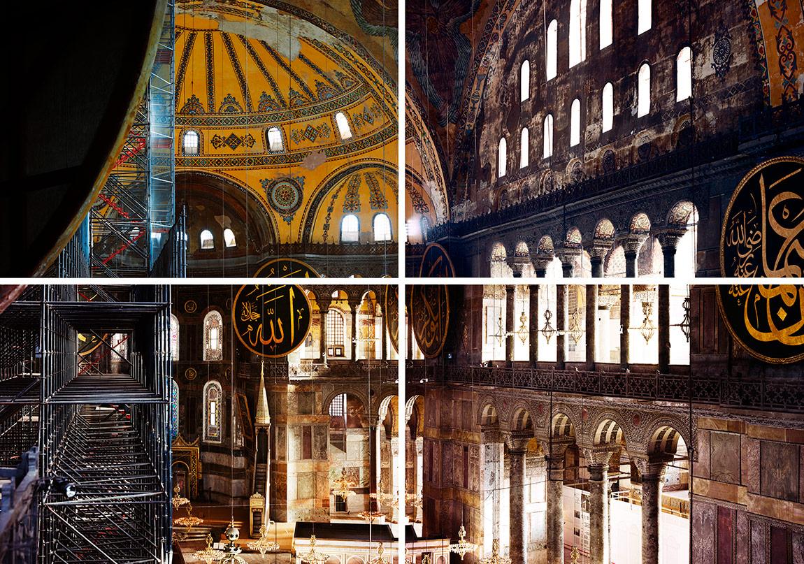 Ola Kolehmainen, Hagia Sophia year 537 XI , 2014, 180 x 226 cm, Quadriptych, c-print, diasec