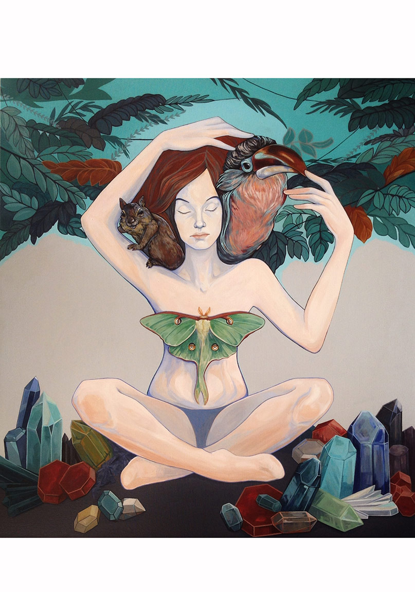 """Aura"", 100 x 90 cm, Tuval üzerine akrilik, 2014"