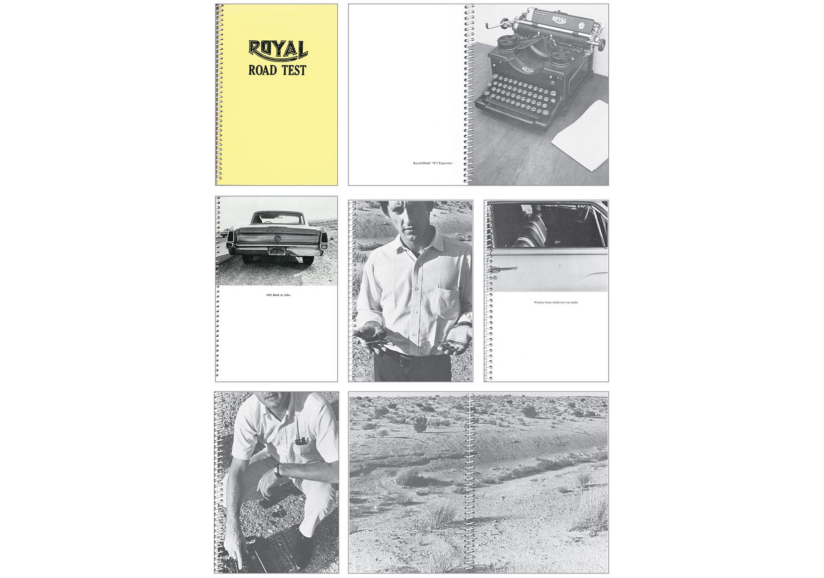 Kitap sekansı (Mason Williams ve Patrick Blackwell işbirliğiyle), Royal Road Test, sanatçı kitabı, 1967 © Edward Ruscha, Sanatçı ve Gagosian Gallery izniyle