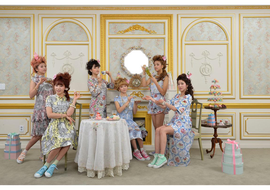 Marie-Antoinette'te çay partisi, Laboum, Seul, Kore, 2015 © Françoise Hugier. Galerie Polka, Paris izniyle.