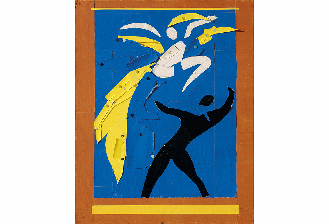 Henri Matisse (1869-1954). İki Dansçı(Deux danseurs), 1937-38. Rouge et Noir Balesi için maket. Kağıt üzerine guaş boya (80.2 x 64.5 cm). Musée National d'art moderne/Centre de création industrielle, Centre Georges Pompidou, Paris. Dation, 1991. © 2014 Succession H. Matisse / Artists Rights Society (ARS), New York