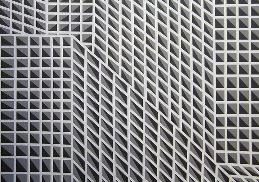 Sistemli İkilik Serisi, 150 x 160 cm, Tual üzeri yağlı boya, 2017