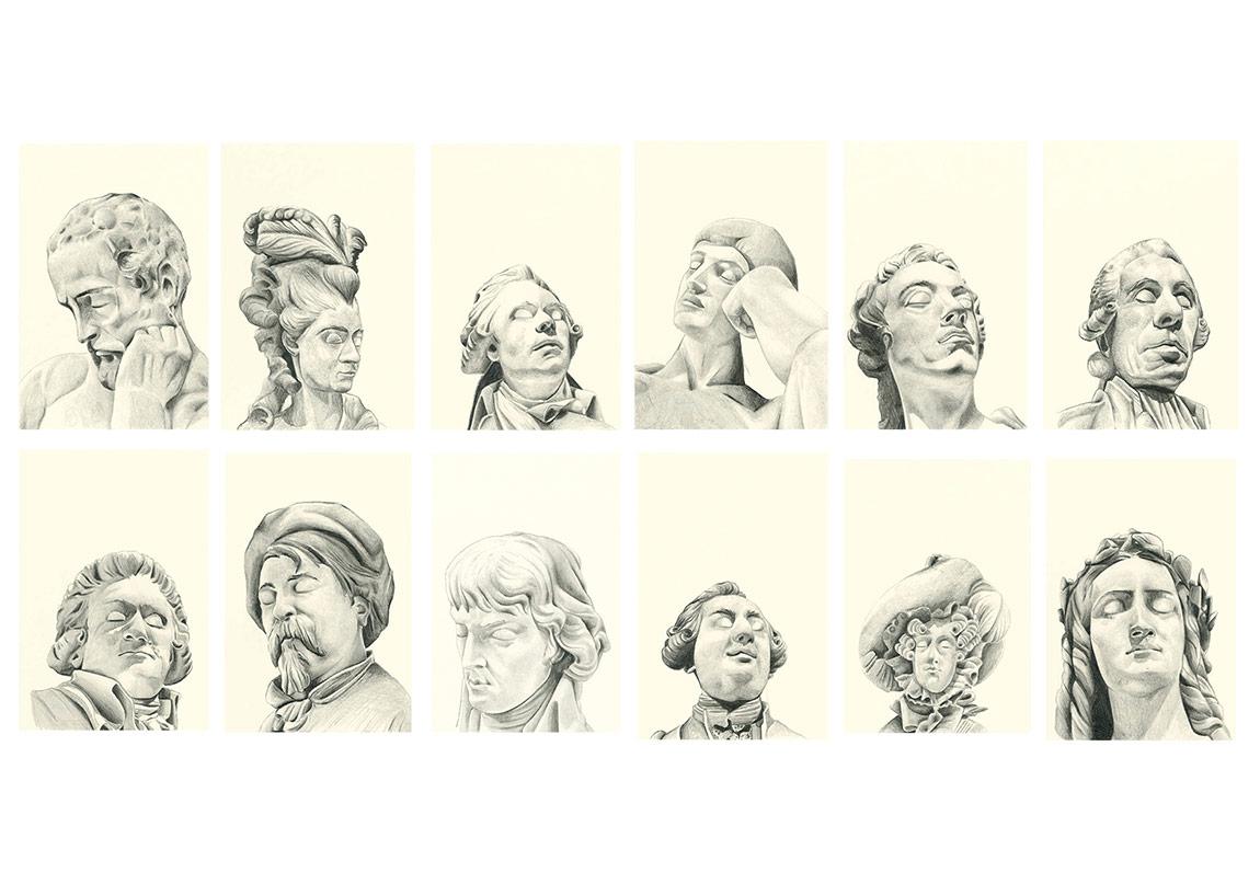 Seda Hepsev, 'Yorgun' Kağıt üzerine desen, 14.5cm x 9.5cm (her biri), 2015