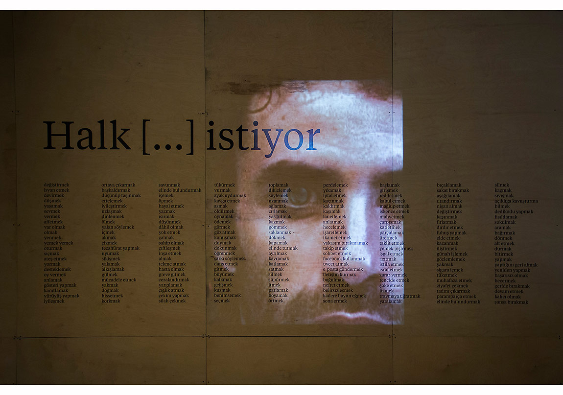 Rabih Mroué, sergiden fotoğraf, SALT Beyoğlu, 2013 Fotoğraf: Mustafa Hazneci