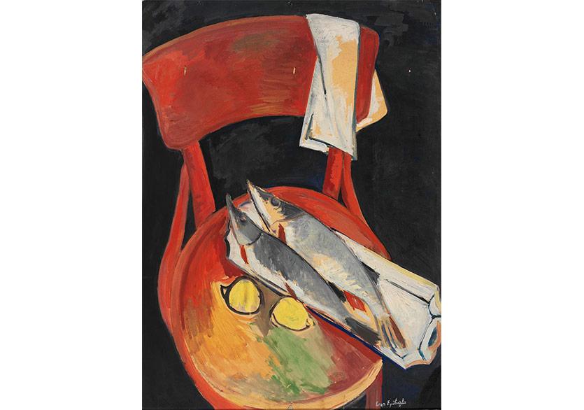 Kırlangıç Balığı, 1949 Kontraplak Üzerine Yağlıboya