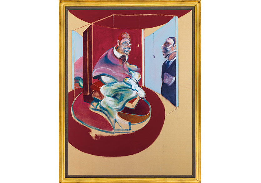 Francis Bacon, Study of Red Pope 1962. 2nd Version 1971, Oil on canvas, 78 x 58⅛in. (198 x 147.5cm.) Courtesy Christie's.