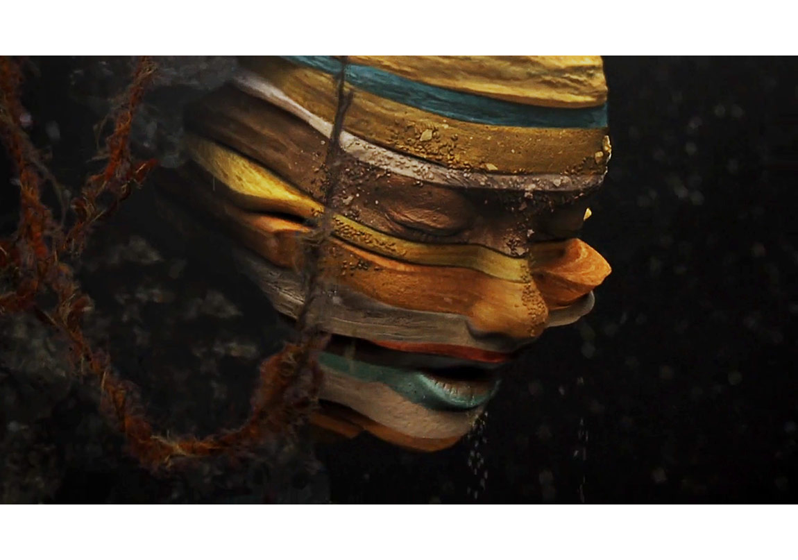 "Björk, ""Mutual Core"" video still, 2012.Credit: Directed by Andrew Thomas Huang, Image courtesy of Wellhart Ltd & One Little Indian"
