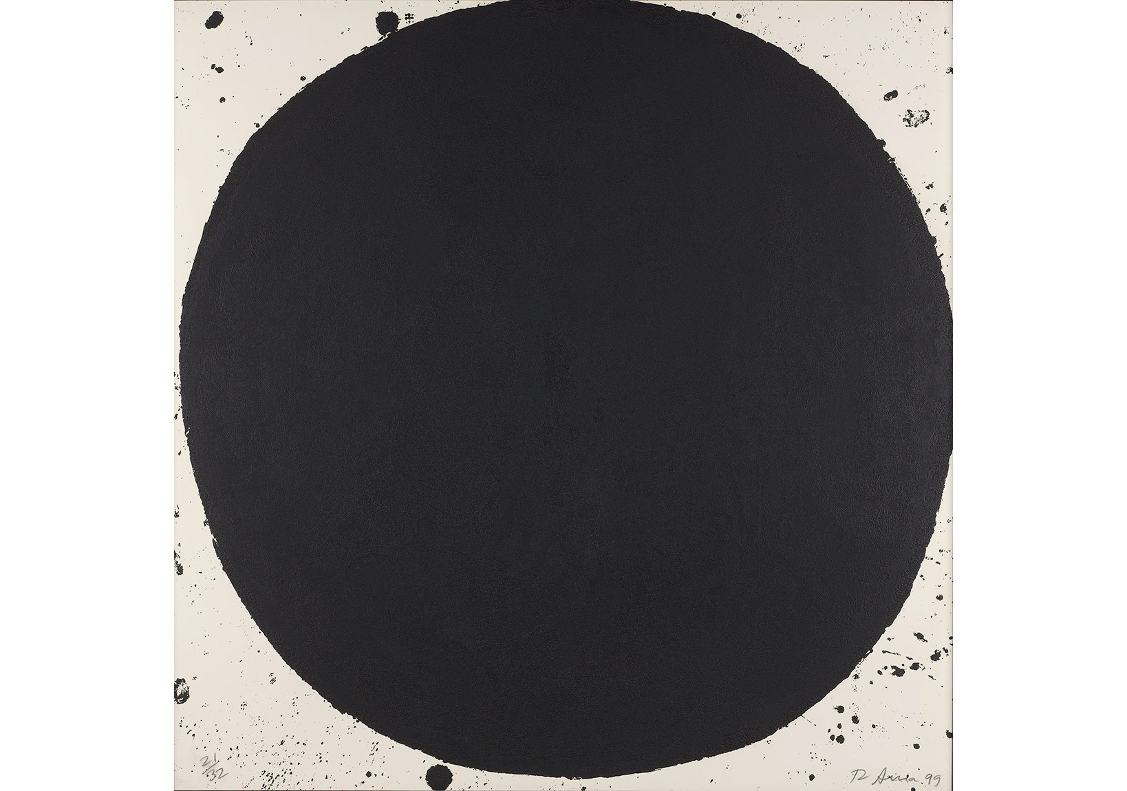 Richard Serra, İsimsiz (1999), Baskı 110x110 cm.