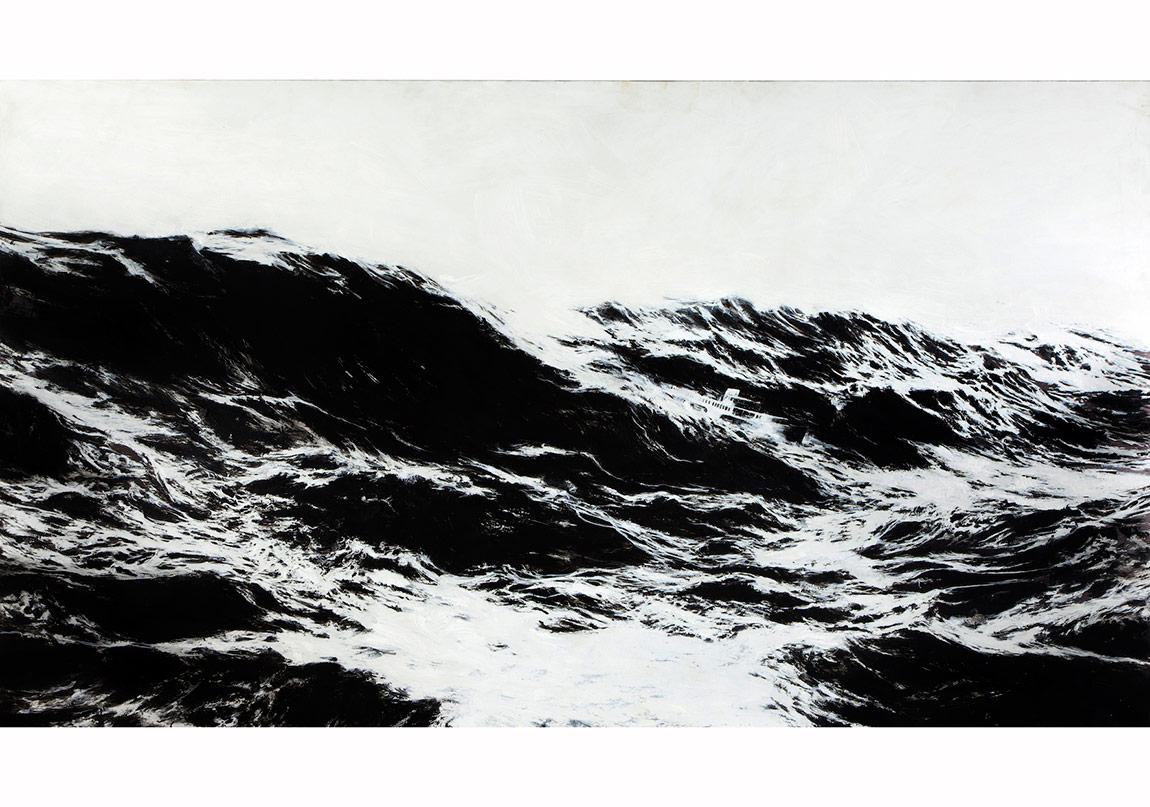 berkay bugdanoglu, tiamat, 2014, aluminyum kompozit panel uzerine akrilik, 125x222cm