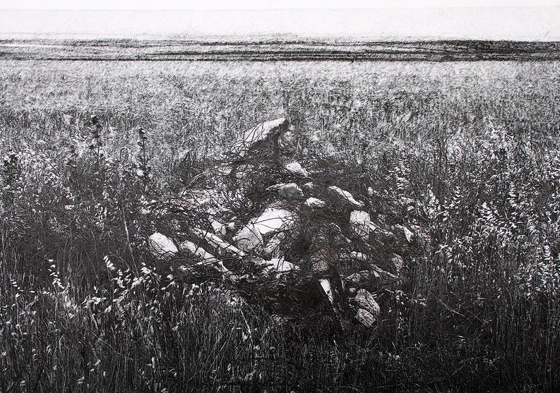 Yokyerler, 70x100cm, kağıt üzerine mürekkepli kalem, 2016