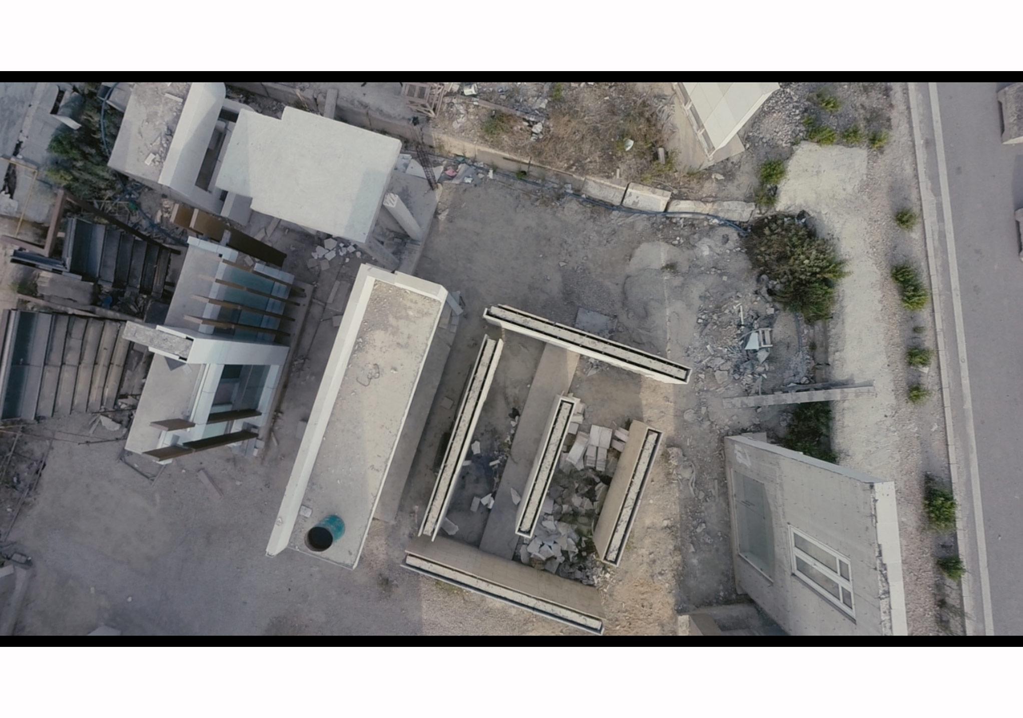 Akram Zaatari'nin Beirut Exploded Views [Beyrut Parçalı Görüntüler] (2014) videosundan bir kare