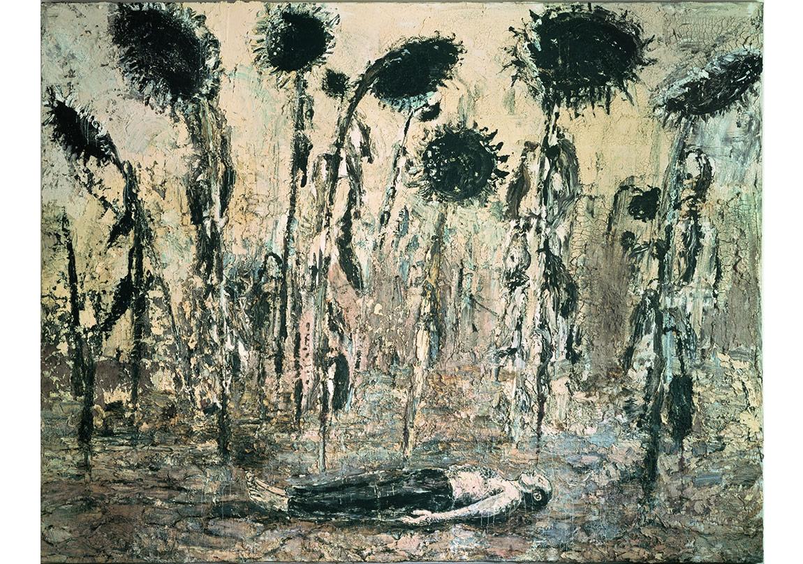 Die Orden der Nacht [Les Ordres de la nuit], 1996 Acrylique, émulsion et shellac sur toile356 x 463 cmSeattle Art MuseumPhoto : © Atelier Anselm Kiefer