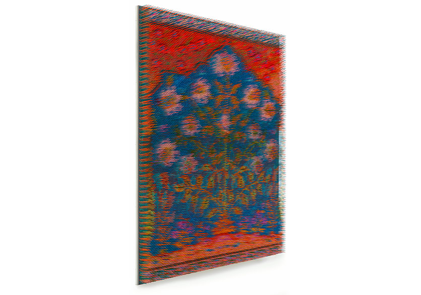 Maxim WakultschikQatar, 2018Lacquer, wood on Kapa board140 × 105 × 9 cm