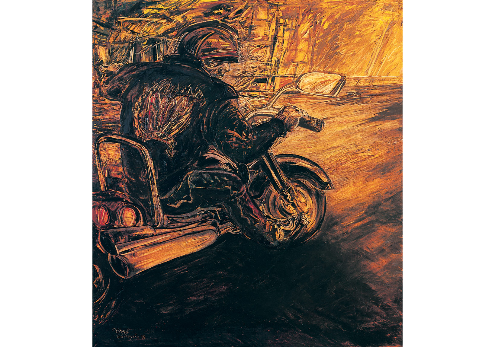 Motard III,1996,Tuval üzerine yağlıboya,Oil on canvas,200 x 180 cm,Dr. Nejat F. Eczacıbaşı Vakfı Koleksiyonu