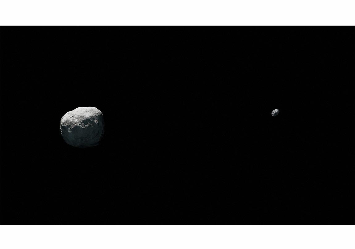Kerem Ozan Bayraktar, Binary asteroids, 142 x 80 cm, CGI c-print, 2015,'et cetera' adlı kişisel sergisinden