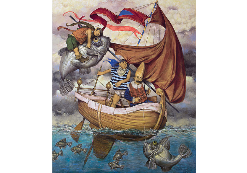 Daron Mouradian - Sailors - 2017 - OilOnCanvas - 180x150cm