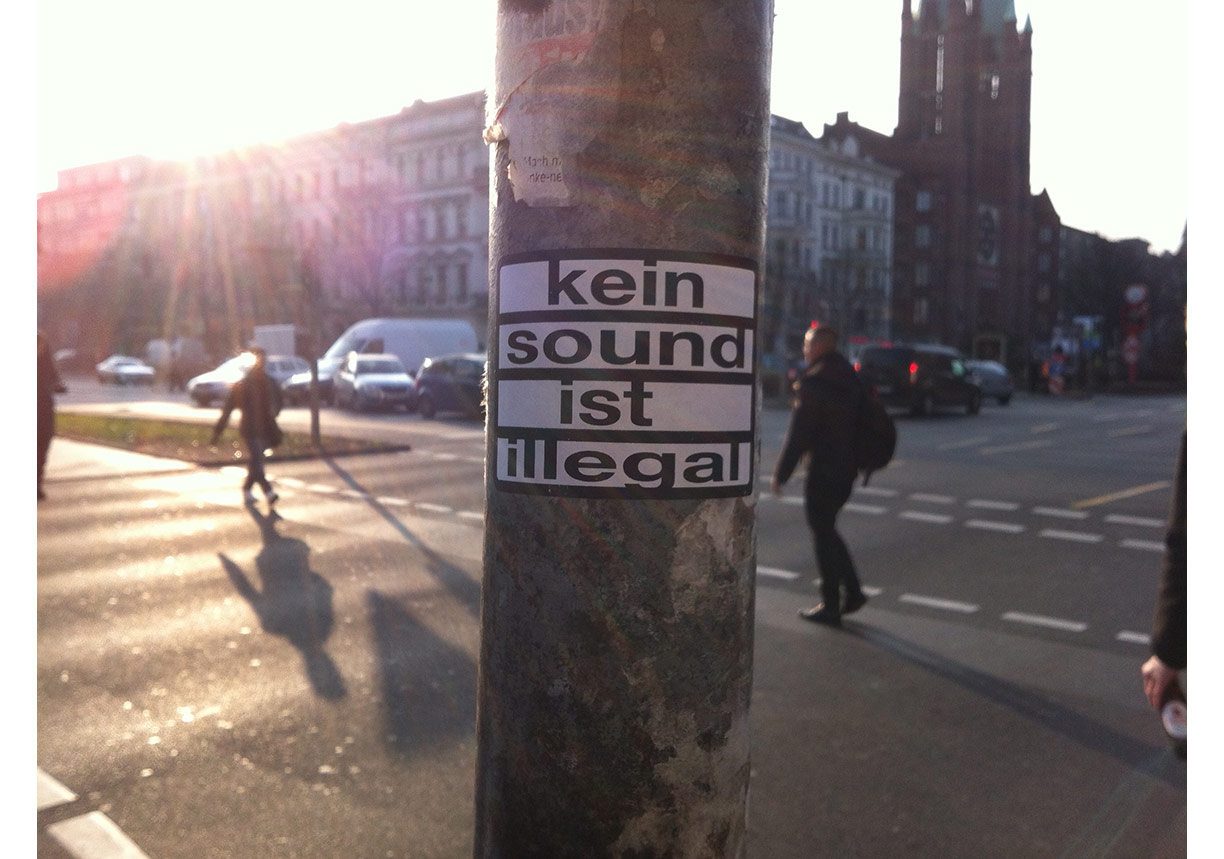 no sound is illegal, Georg Klein