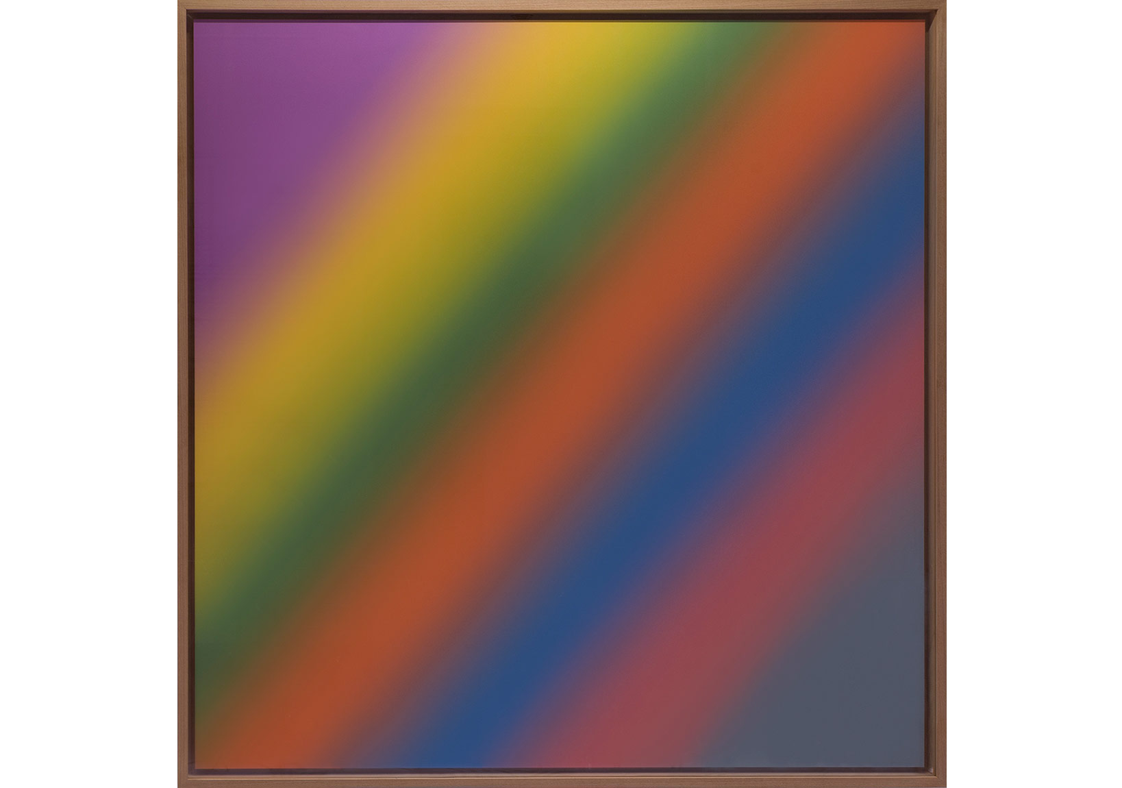 Scheinbogen, 2014 Ink-jet print on Hahnemühle photo rag ultra smooth 305 gr 150 × 150 cm, alu-dibond,Wooden frame; 158 × 158 cm5+2