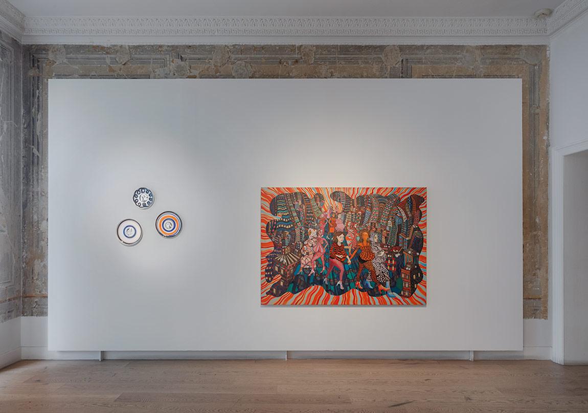 Elif UrasPregnant Stroll, 2016 oil on linen 140 x 197 cm