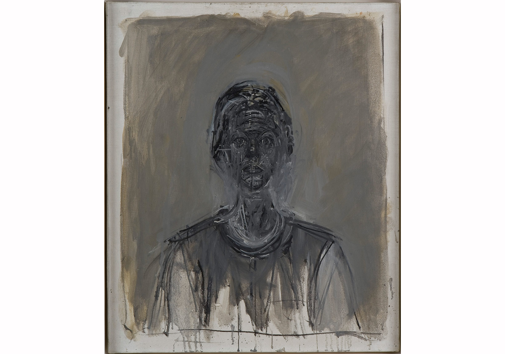 Alberto Giacometti, Kara Annette, 1962- Black Annette, 1962 Tuval üstüne yağlıboya / Oil on canvas 55 x 45,8 cm Giacometti Vakfı Koleksiyonu, Paris, env. 1994-0618 Giacometti Foundation Collection, Paris, inv. 1994-0618 © Estate Giacometti (Fondation Giacometti + ADAGP) Paris, 2015