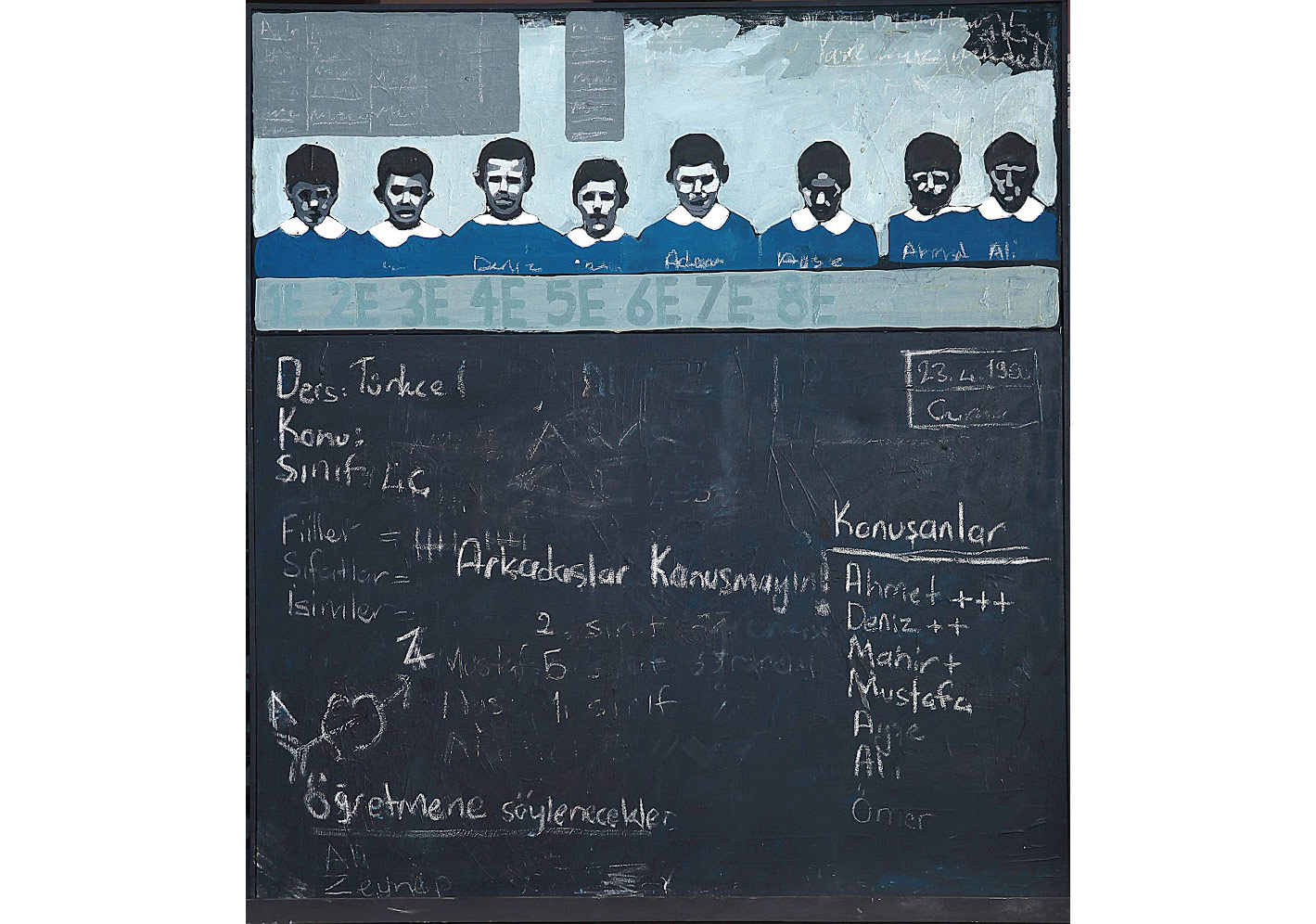 Blackboard, 100 x 115 cm, Mixed media on canvas, 2012