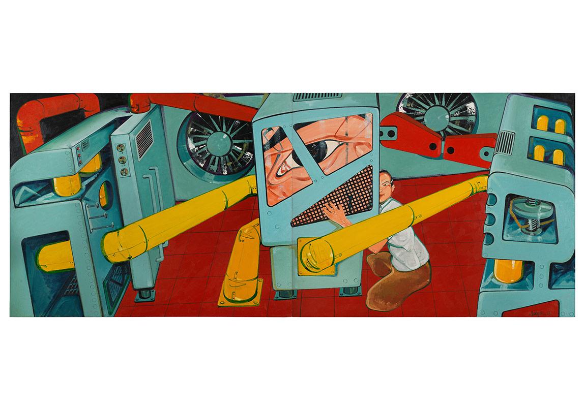 Güce Tapan Adam - Man Adoring Power - 2013 - 200x500 cm (dyptic)
