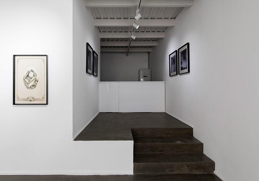 Murat Balcı - Haberci, tuval üzerine mürekkepli kalem 55x81, 2019