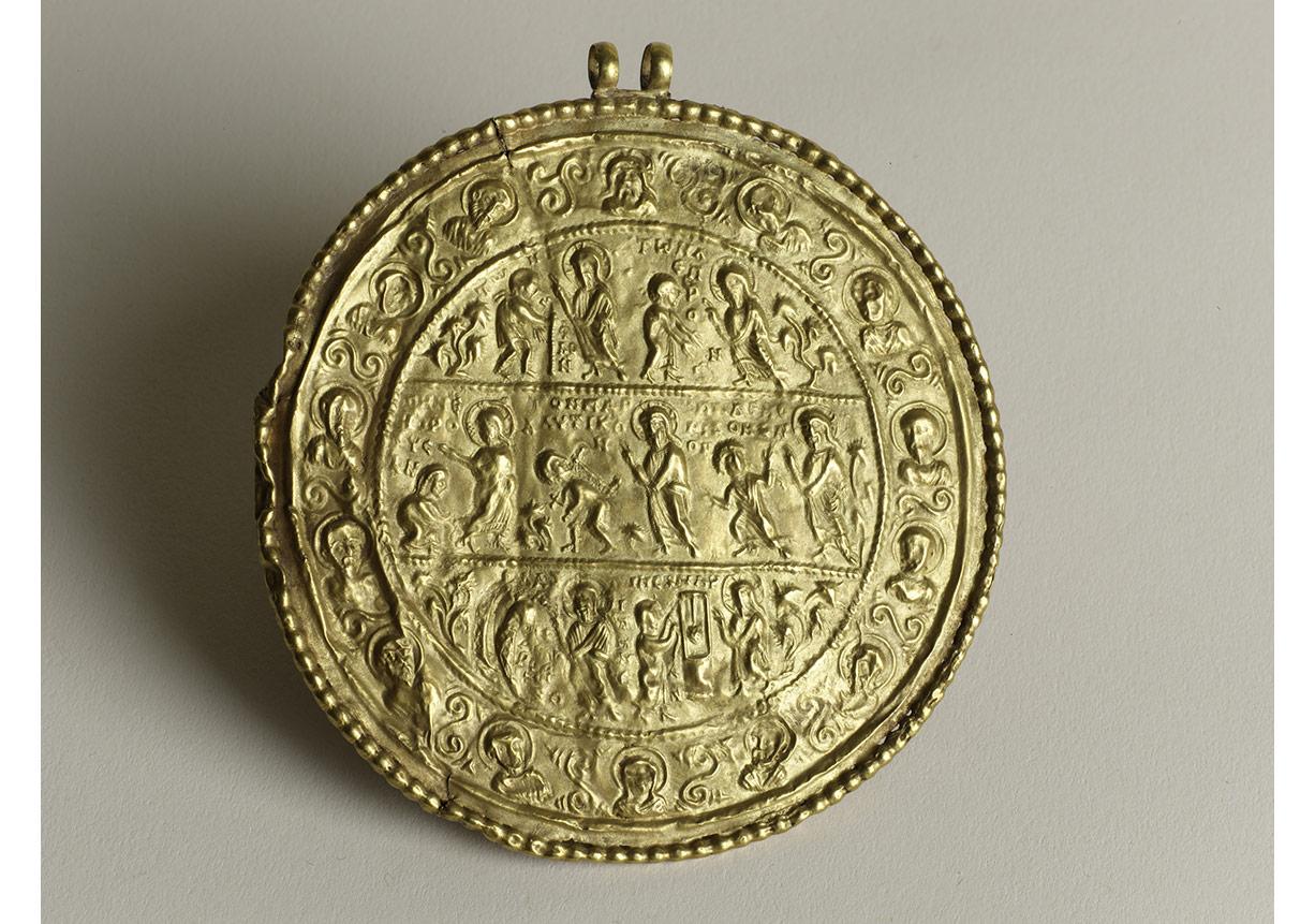 Altın madalyon, 6.–erken 7. yüzyıl, İstanbul Arkeoloji Müzeleri, env. no. 82a (M).
