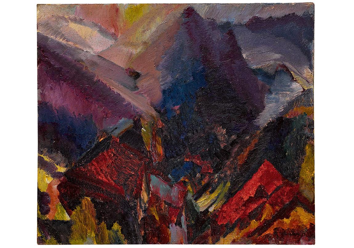 Evening Sale, Lot 12, Bomberg, Sunrise in the mountains, picos de asturias (1935)