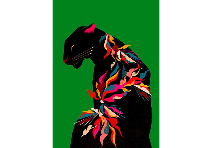 Willian Santiago'dan Rengarenk Hayvan İllüstrasyonları