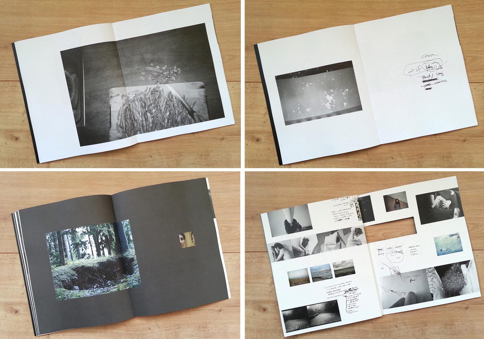 İrem Sözen'in 'geri bak / turnaround' sergisine paralel hazırlanan, tasarımı Okay Karadayılar'a ait kitap