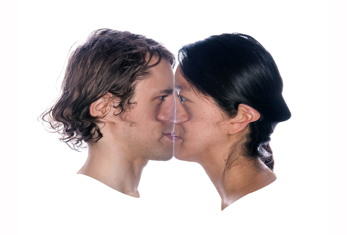 Crash Kiss (Steven & Susan), 2013, 18 by 24 inches, c-print with frame