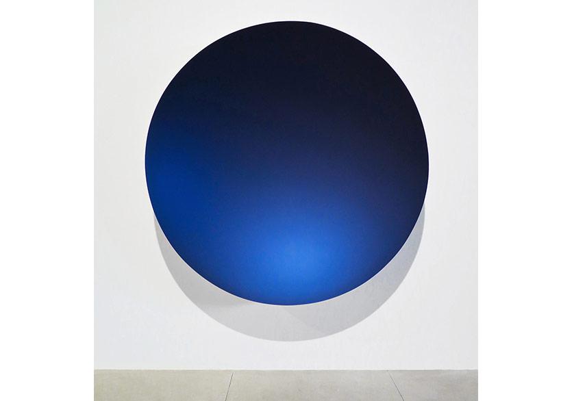 Anish Kapoor,Monochrome (Majik Blue), 2016, Fibreglass and paint, 188 x 188 x 40 cm, GALLERIA CONTINUA, Habana, Cuba, 2016