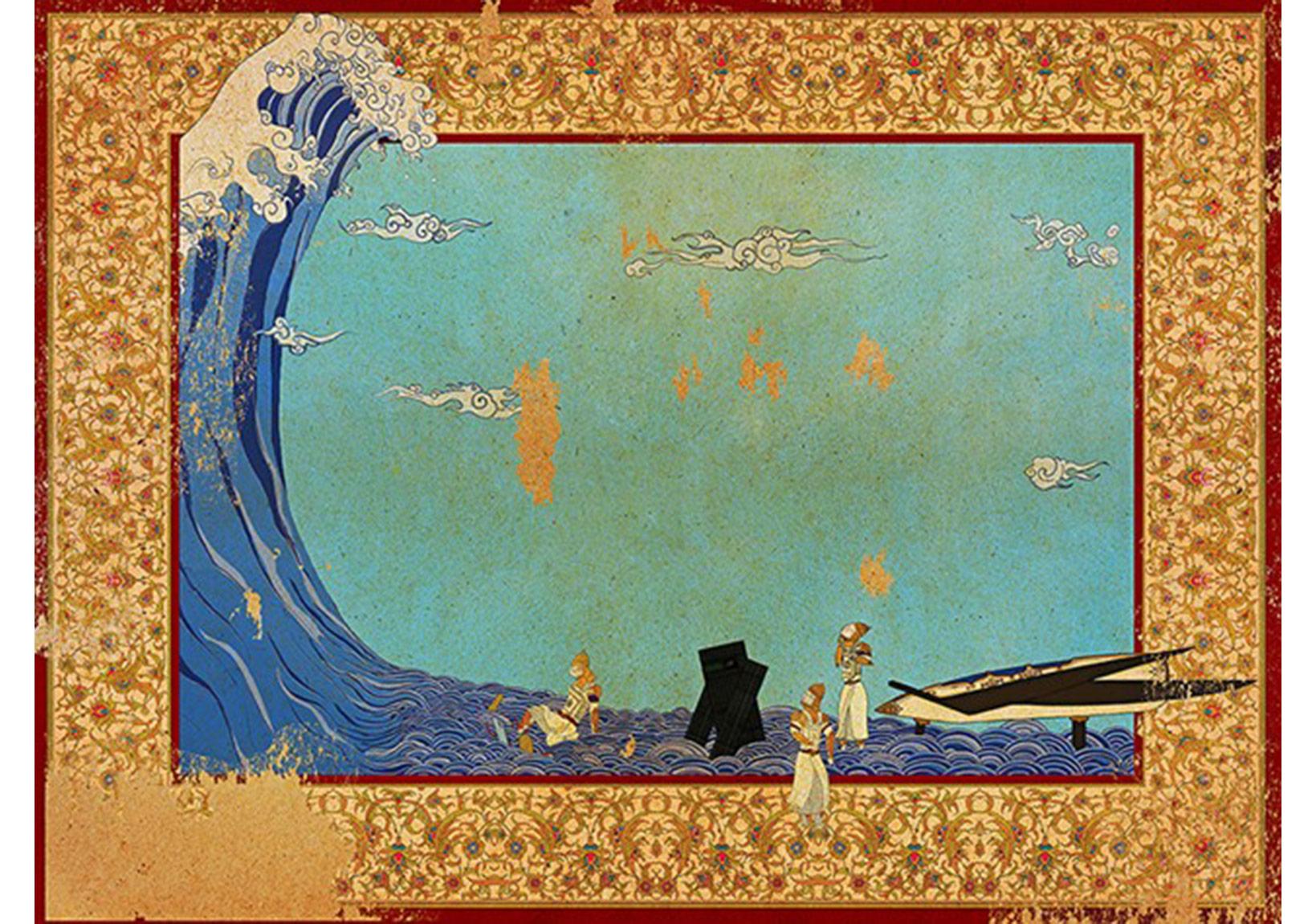 """Murat Palta""""Yıldızlararası""""Fine art kağıt üzerine mono baskı, 60 x 81 cm, 2014"""