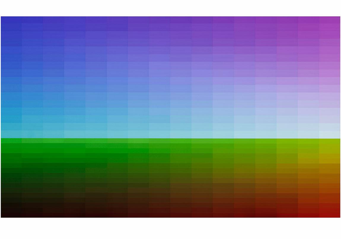 Yağız Özgen, Landscape (512 Colors) , 2014, 163,5x276cm, Acrylic onCanvas
