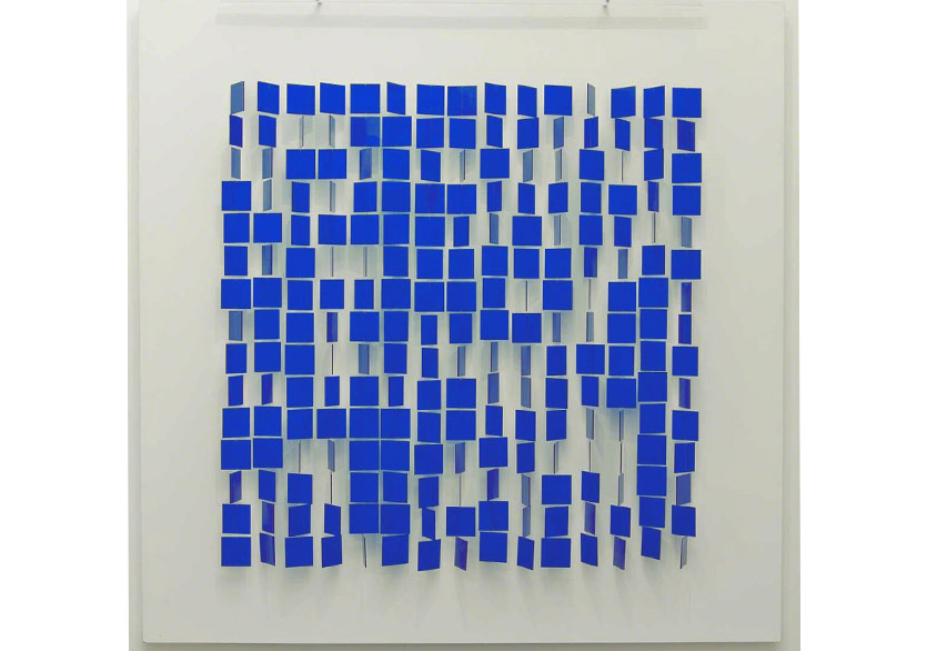 Julio Le Parc, Mobile bleu sur blanc, 1960