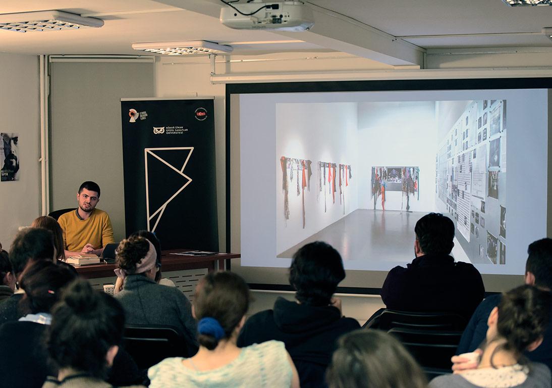 Ali Taptık Sanatçı Konuşması'ndan © FUAM ekibi