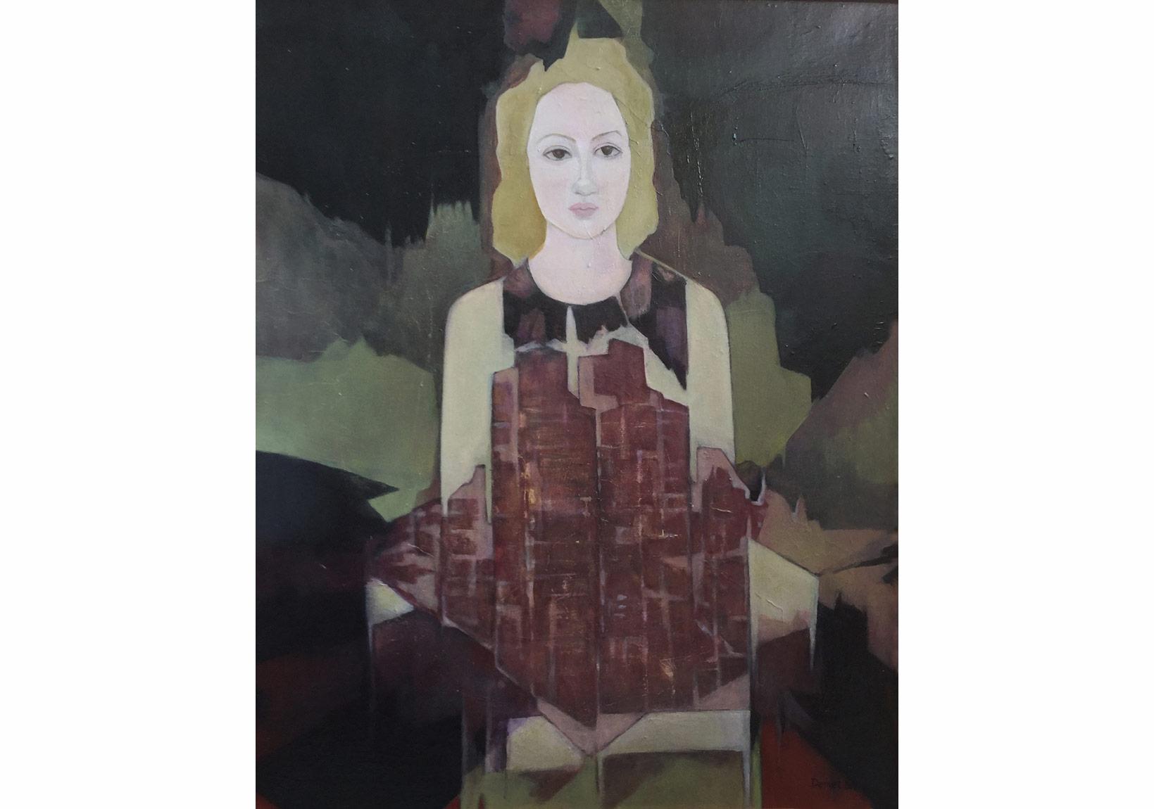 """DEMET YERSEL """"GÖKDELENLER"""" 2015, 80x62cm. t.ü.yb"""