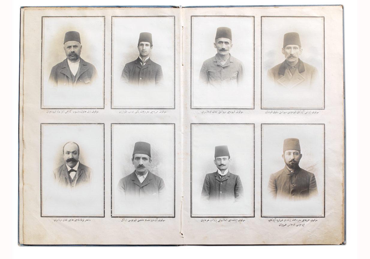 21 Temmuz 1905 günü Sultan II. Abdülhamid'e karşı düzenlenen suikast girişimi faillerinin portreleri, Zaptiye Nezareti Fotoğrafhanesi, Ömer M. Koç Koleksiyonu.