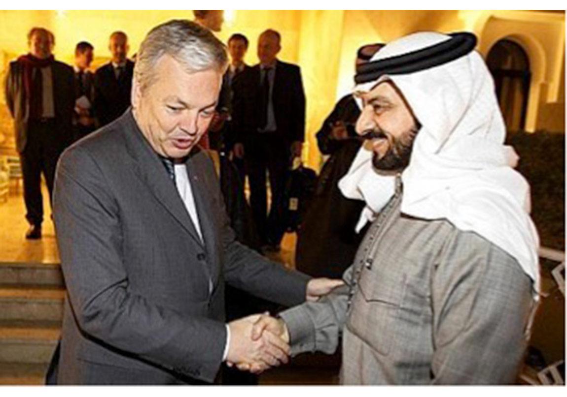 Suudi Prensi ile ilgili video: https://www.youtube.com/watch?v=xyHcPzr5aiAhttp://www.lesoir.be/140752/article/actualite/belgique/2012-12-19/reynders-rencontre-un-prince-saoudien-contest%C3%A9-%C2%ABun-couac%C2%BB