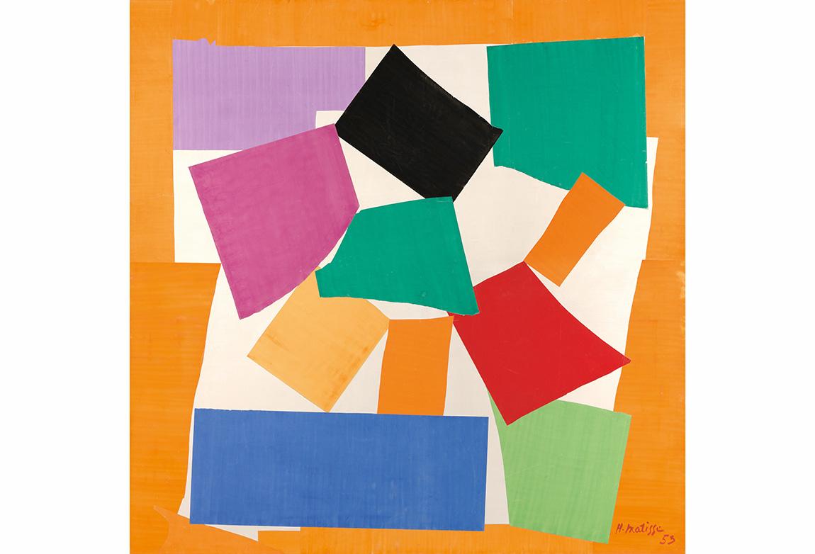 Henri Matisse (1869-1954). Salyangoz (L'Escargot), 1953. Kağıt üzerine guaş (286.4 x 287 cm). Tate. Friends of the Tate Gallery yardımı ile, 1962. © 2014 Succession H. Matisse / Artists Rights Society (ARS), New York