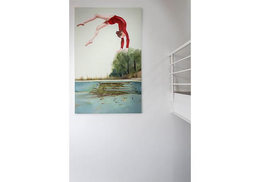 Fulya Çetin - İsimsiz, tuval üzerine yağlıboya 130x220, 2016